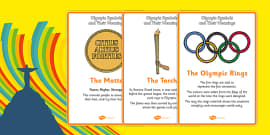 The Olympics Symbols And Their Meaning Display Posters