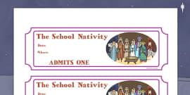 Editable Nativity Tickets