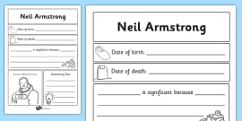 Neil Armstrong Significant Individual Writing Frame