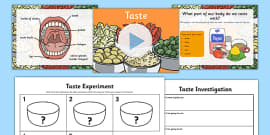 Science Senses 5 Tastes PowerPoint and Activity Sheets Teaching Pack
