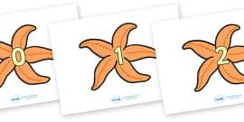 Numbers 0-20 on Starfish