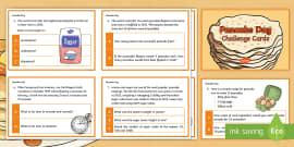 Y6 Pancake Day Maths Challenge Cards