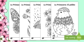 * NEW * Spring Mindfulness Colouring Pages Spanish