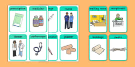 Doctor's Surgery Flash Cards