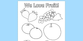 Fruit Colouring Poster