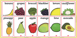 Fruit and Vegetable Display Posters