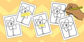 Daffodil Colouring Sheet