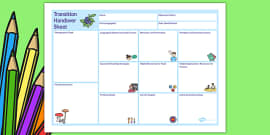 EAL Transition Handover Sheet to a New School