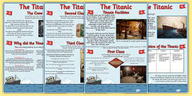 Titanic Information Sheets