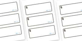 Monkey Themed Editable Drawer-Peg-Name Labels (Blank)