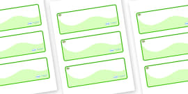 Apple Tree Themed Editable Drawer-Peg-Name Labels (Colourful)