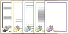 French Colours Page Borders