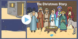 The Nativity Christmas Story Background PowerPoint