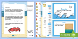 * NEW * Editable Scuttle the Crab Seaside Letter and Resource Pack
