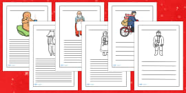Writing Frames to Support Teaching on The Jolly Christmas Postman
