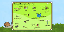 Minibeast Description Word Mat