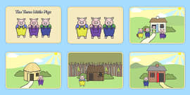 The Three Little Pigs Story Sequencing