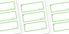 Turtle Themed Editable Drawer-Peg-Name Labels (Blank)