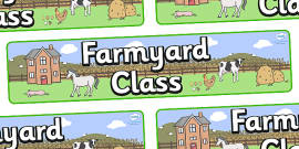 Farmyard Themed Classroom Display Banner