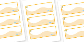 Sunshine Themed Editable Drawer-Peg-Name Labels (Colourful)
