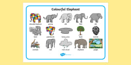 Word Mat to Support Teaching on Elmer