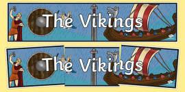 The Vikings Display Banner