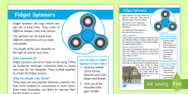 KS1 Fidget Spinners Fact Sheet