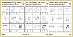 Find and Write the igh Words Differentiated Activi...