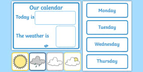 Daily Calendar/Weather Char...