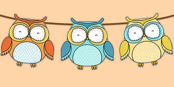 Superb Owl Themed Bunting - superb owl, bunting, display bunting, display, super bowl