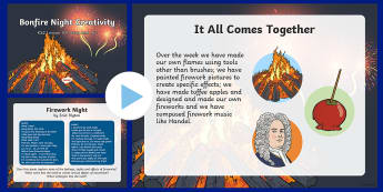 Bonfire Night Creativity Lesson 5 Poetry and Art PowerPoint
