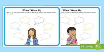 When I Grow Up... Poster  - Young People & Families Case File Recording, referral, chronology, contents page,buddy system, safeg