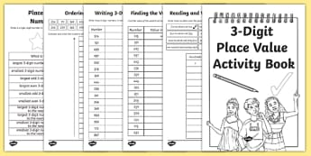 Back to School Place Value Revision 3 Digit Numbers Activity Booklet-Scottish