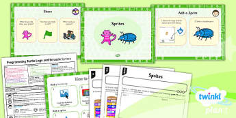 PlanIt - Computing Year 2 - Programming Turtle Logo and Scratch Lesson 6: Sprites Lesson Pack