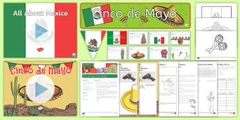 Cinco de Mayo Grade 3-5 Bumper Resource Pack - Cinco de Mayo, bumper resource pack, resource pack, cinco, mayo