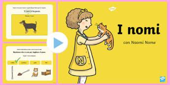 I Nomi Presentazione Powerpoint - Presentazione, powerPoint, Italiano, italian, grammatica, nome, nomi