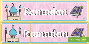 Banner na gazetkę Ramadan - Islam, religia, wiara, muzułmanin, meczet, allah, bóg, mahomed, mohammad, mohammed, muhammed, rama