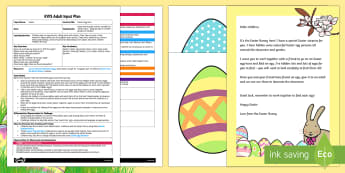 Easter Egg Hunt EYFS Adult Input Plan and Resource Pack - easter, easter hunt