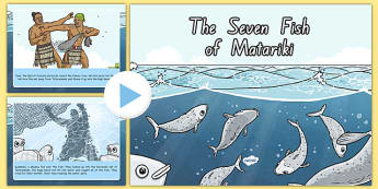 The Seven Fish of Matariki Story PowerPoint