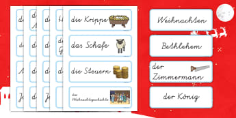 Nativity Topic Words German - german, nativity, topic, words, christmas