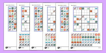 Space Picture Sudoku 9x9 - maths, numeracy, numbers, topic, space, travel, early years, position, pattern