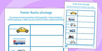 Pomiar ruchu drogowego po polsku - szkoła, nauczanie , Polish