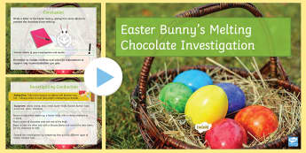 Easter Bunny's Melting Chocolate Investigation PowerPoint - Secondary - Easter Resources, heat transfer, physics, conduction, convection, radiation, energy, hea
