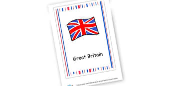Great Britain Book Cover - Countries Primary Resources, city, sights, country, USA, Australia