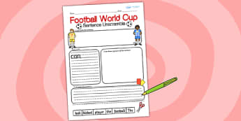 Football World Cup Sentence Unscramble - football, world cup