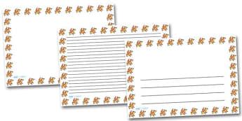 Cute Pteradactyl Landscape Page Borders- Landscape Page Borders - Page border, border, writing template, writing aid, writing frame, a4 border, template, templates, landscape