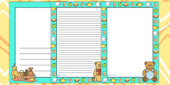 Teddy Bears Picnic Page Borders - teddy bears, bears, borders