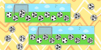 Missing Number Football Strip Number Line 0 20 - count, counting