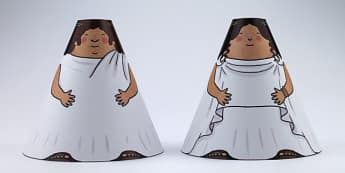 Ancient Greek Cone Characters - ancient greece, greeks, crafts