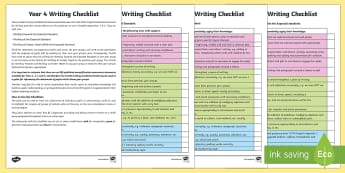 Year 4 Writing Checklist - Y4, Year 4, writing targets, writing assessment, writing checklist, writing tick list, writing tickl